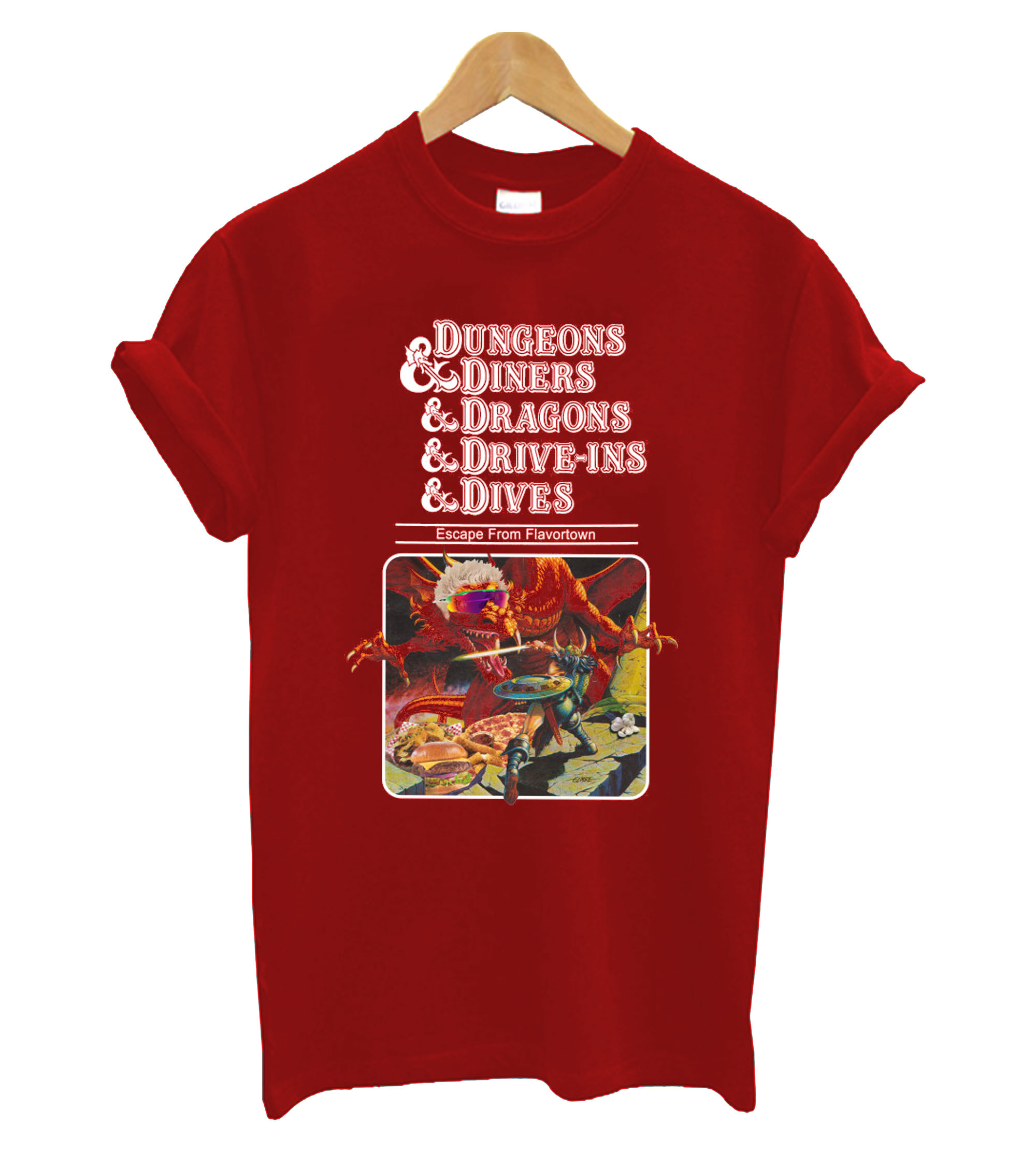 Dungeons & Diners & Dragons & Drive-Ins & Dives Escape from Flavortown T-Shirt