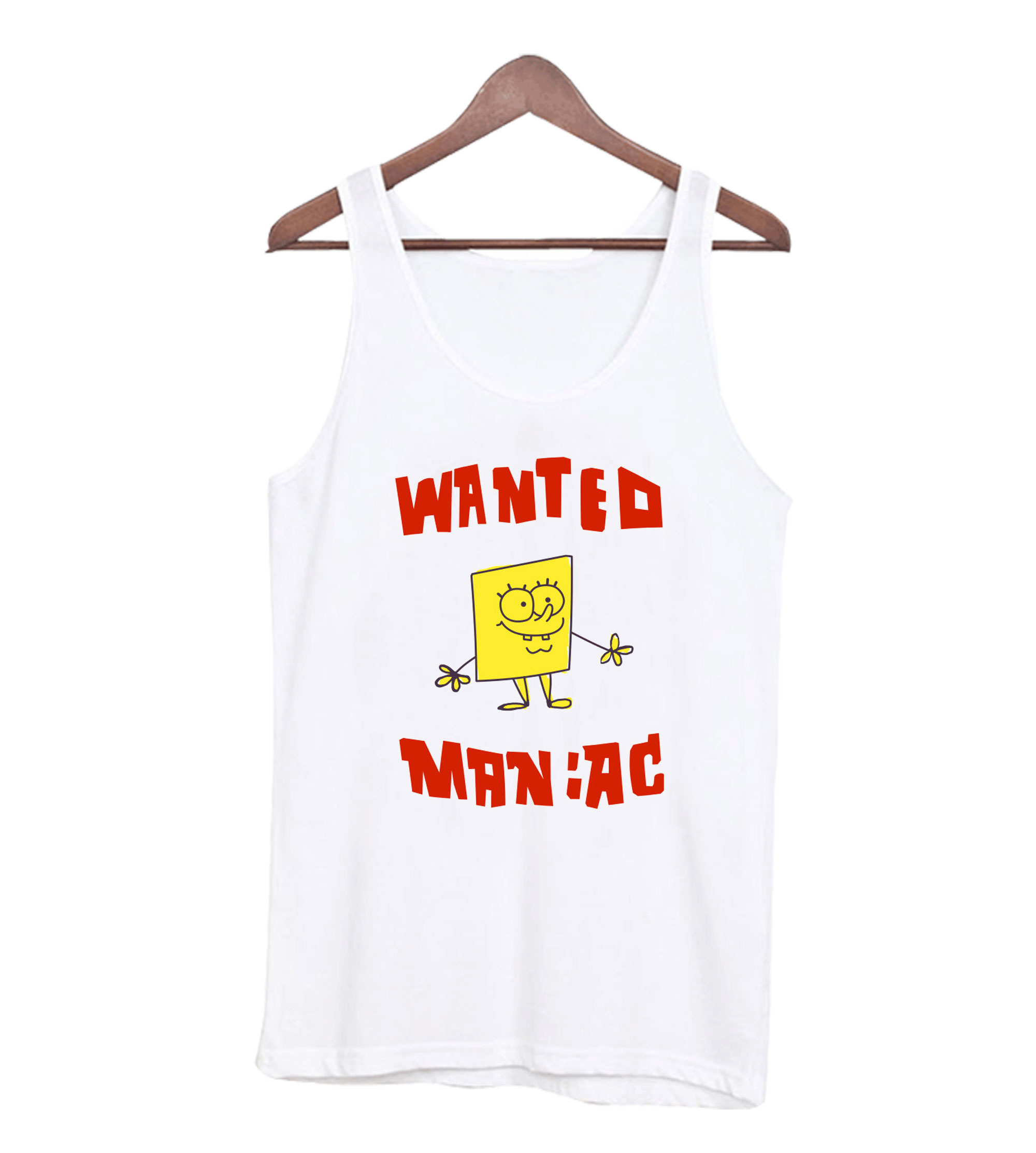 SpongeBob SquarePants Wanted Maniac Tank Top