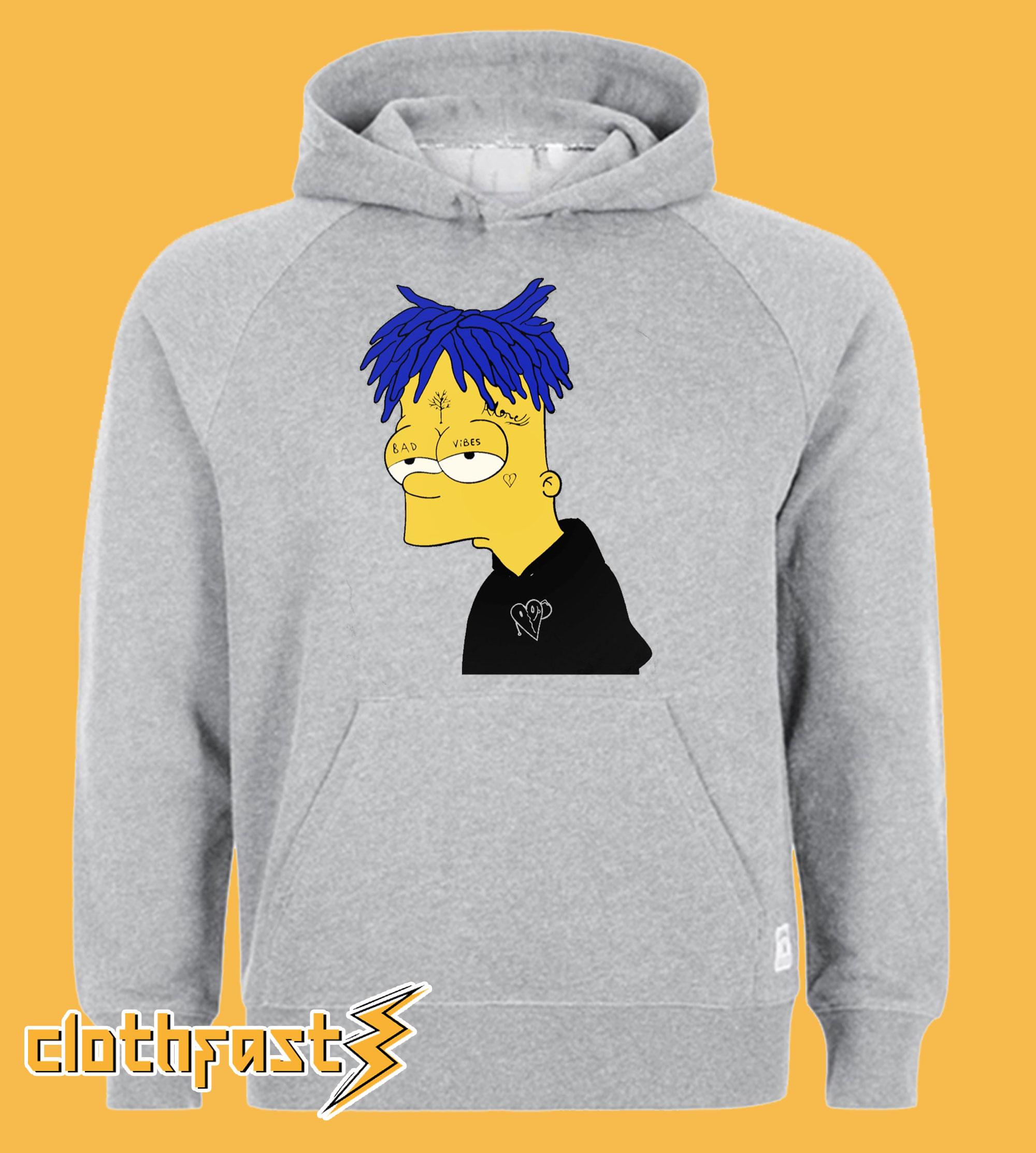 XXXTentacion BART Simpson Mashup RageOn Hoodie