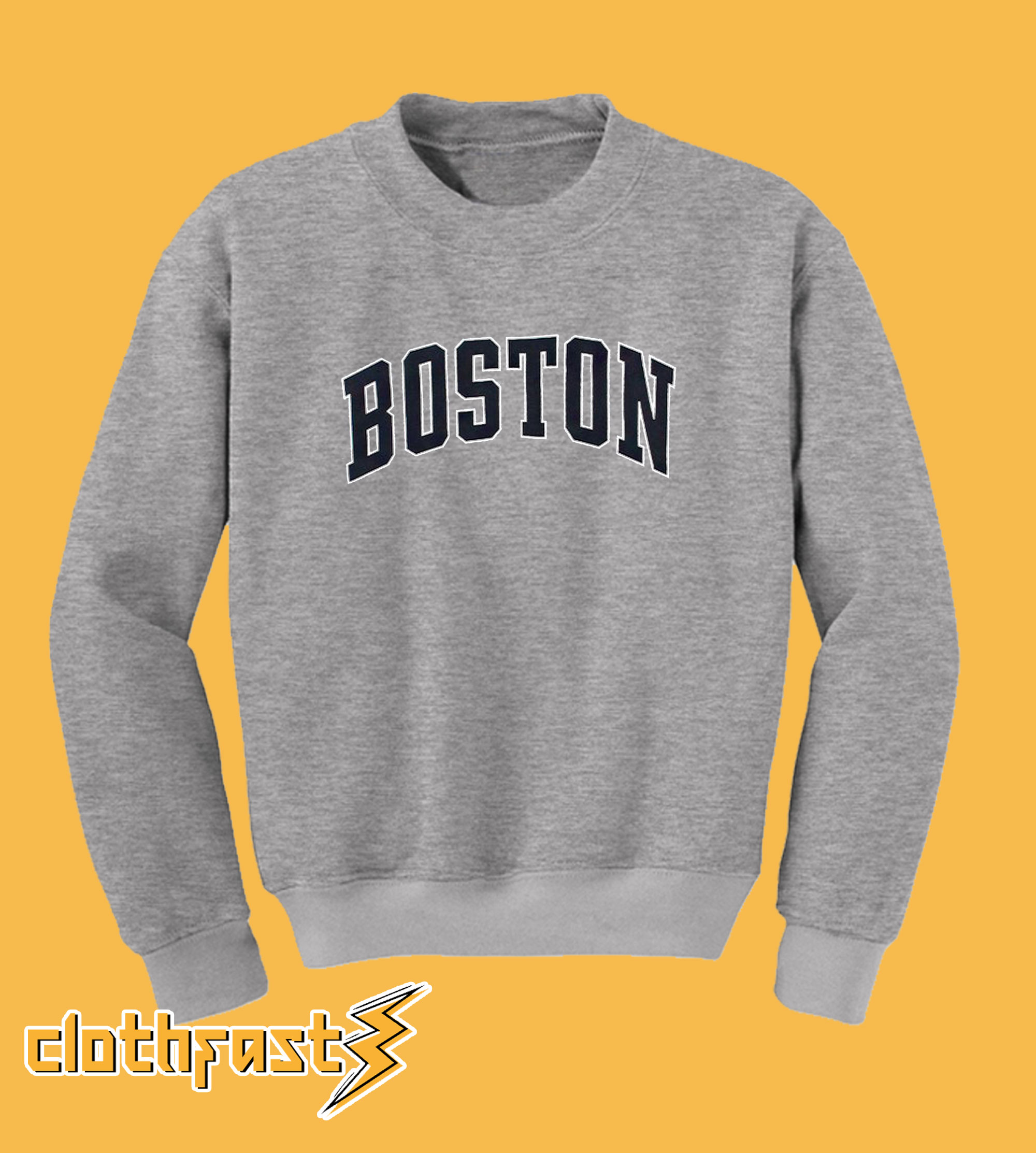 Boston Grey Sweatshirt