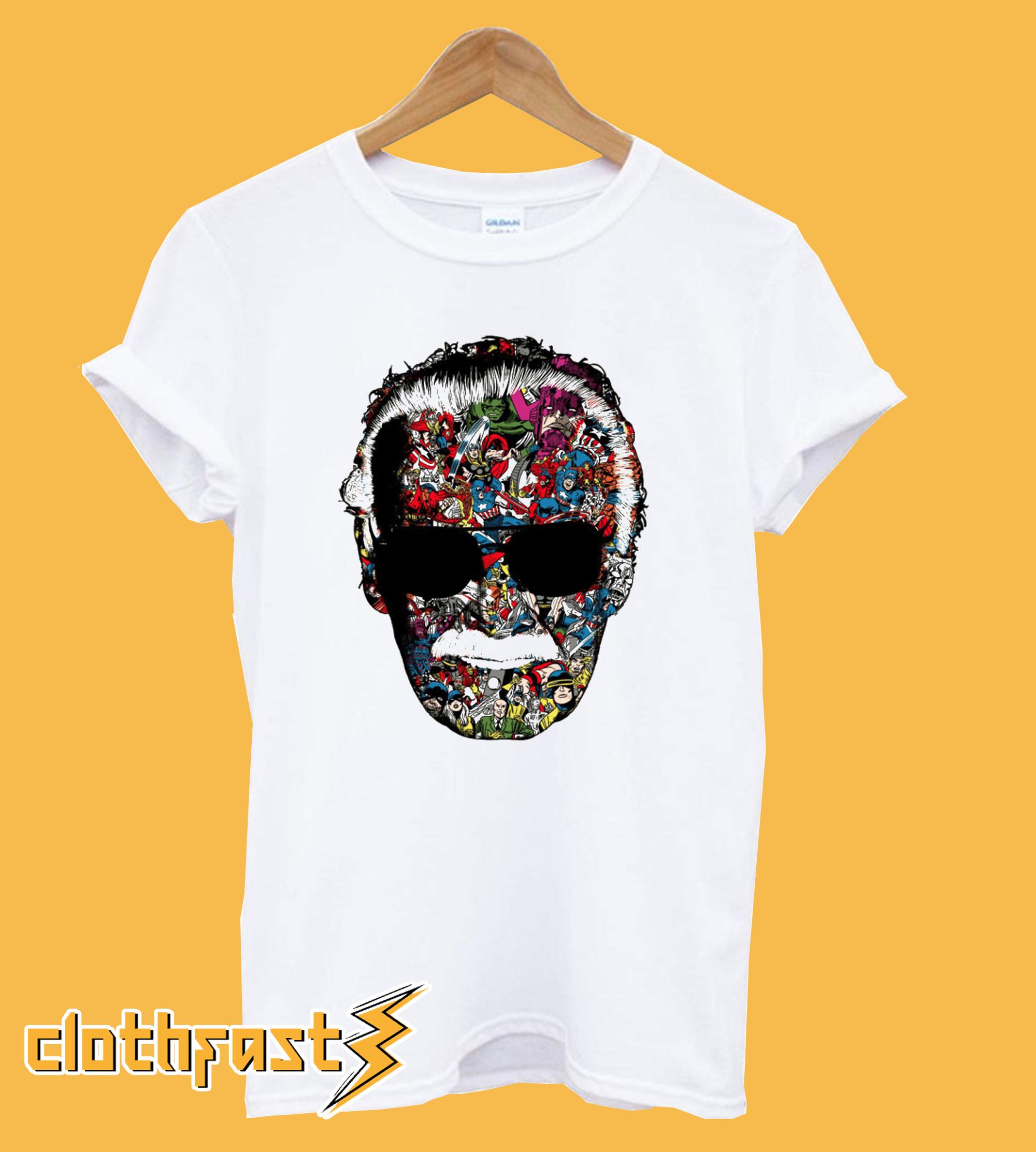 Stan Lee Face T shirt