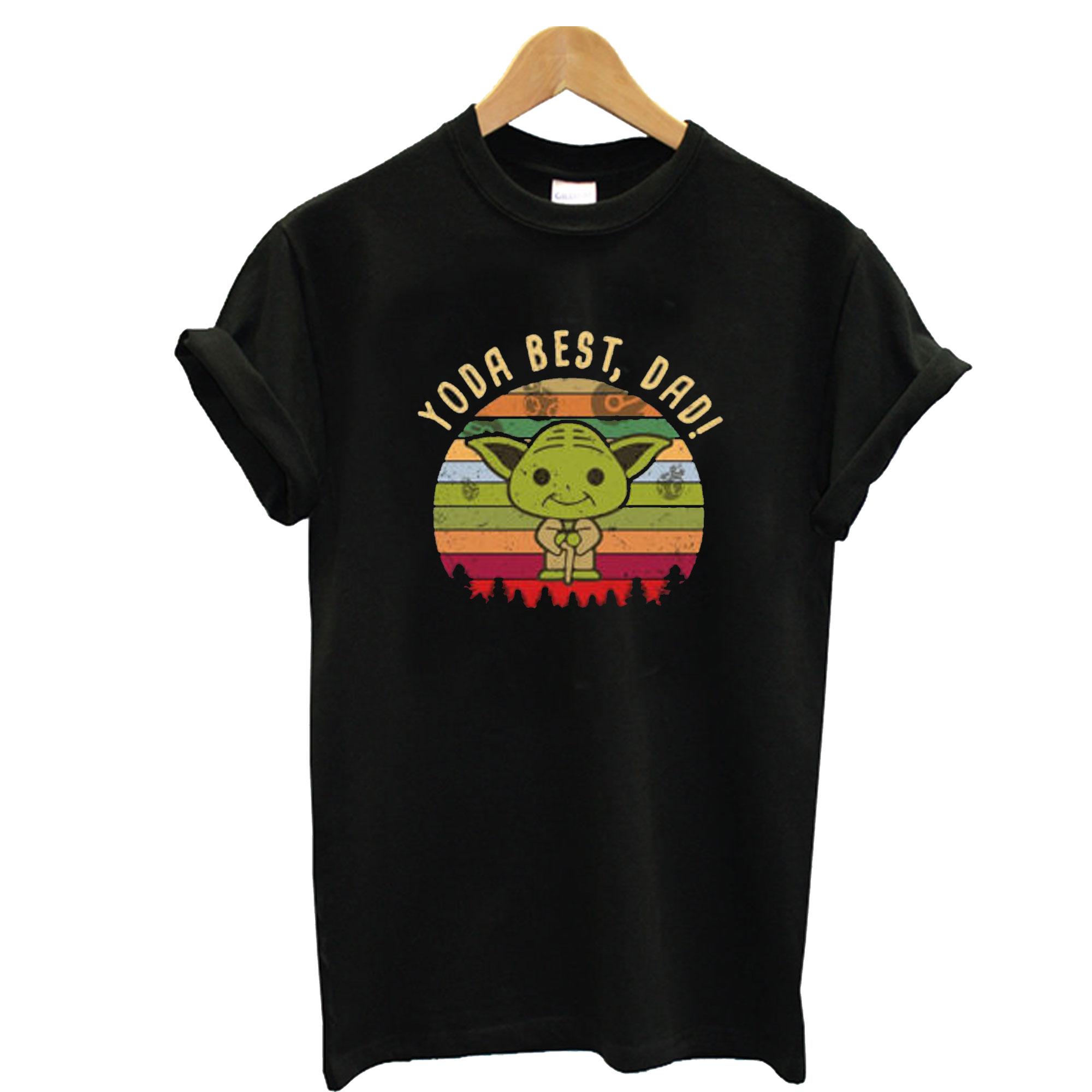 Vintage Yoda Best Dad T-Shirt