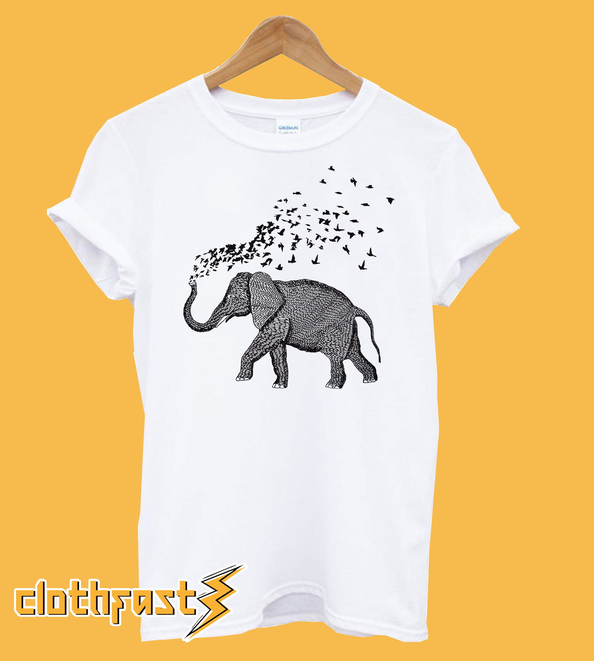 Elephant Birds Parade T-Shirt