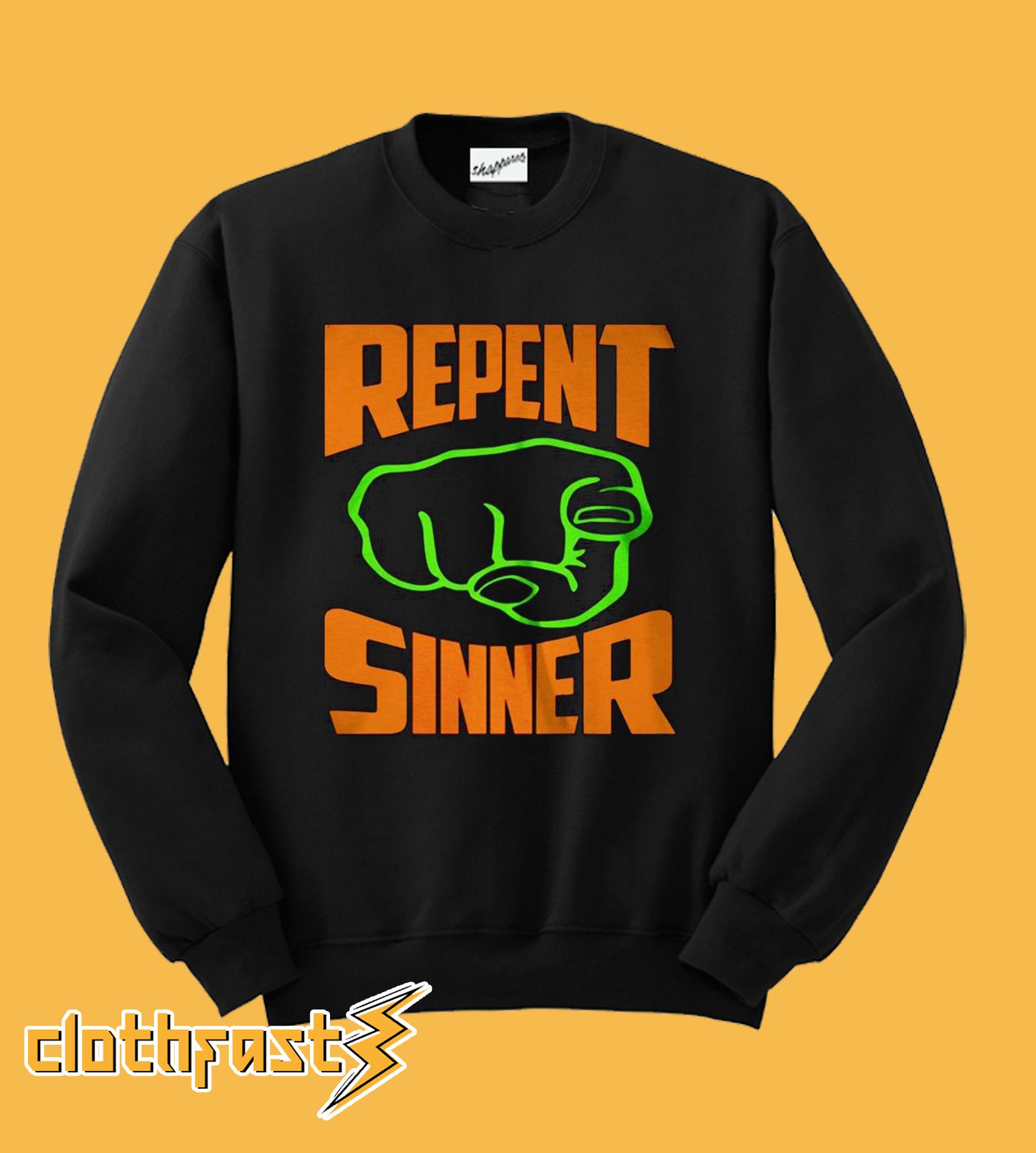 REPENT SINNER Punch Sweatshirt