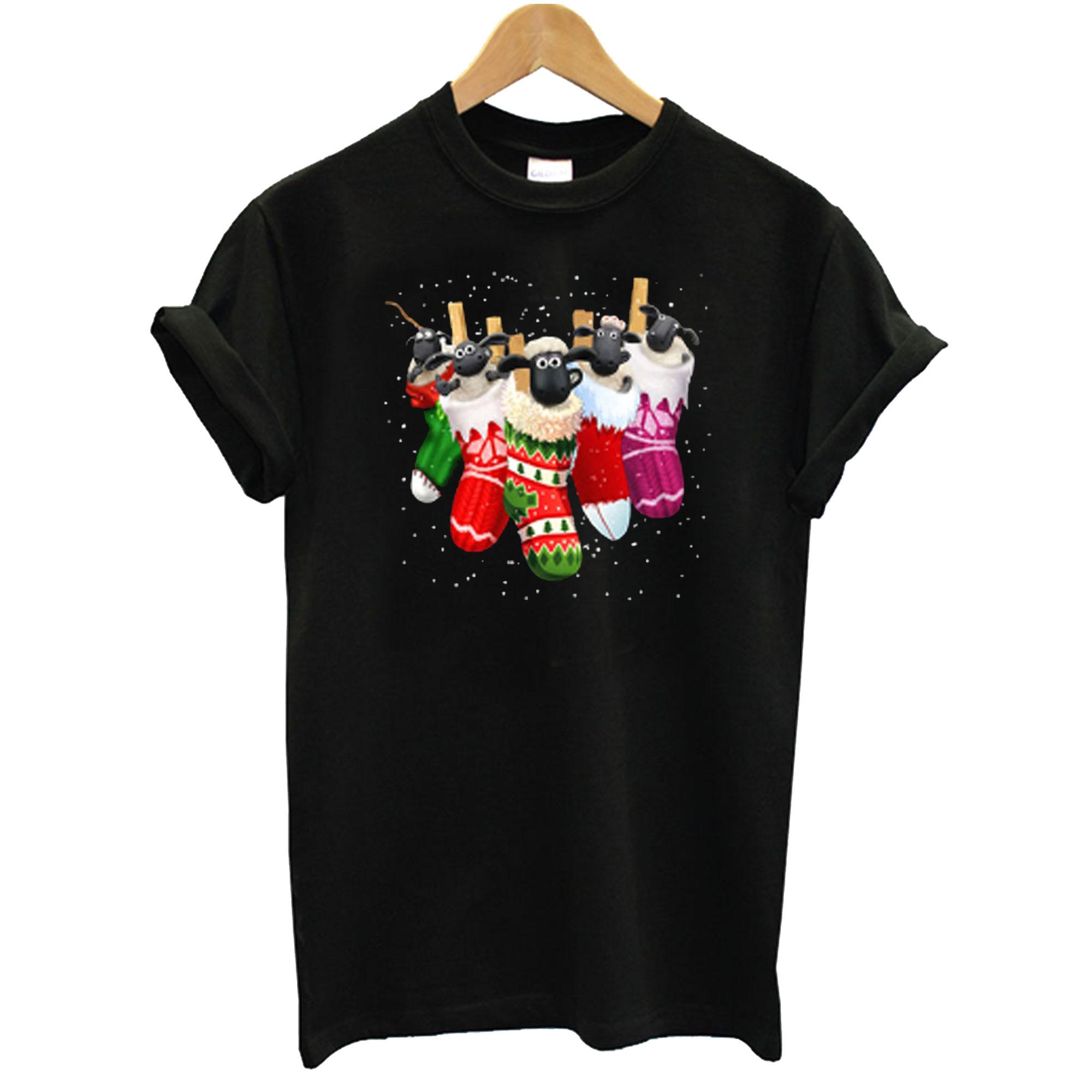 Shaun The Sheep In Socks Christmas T-Shirt