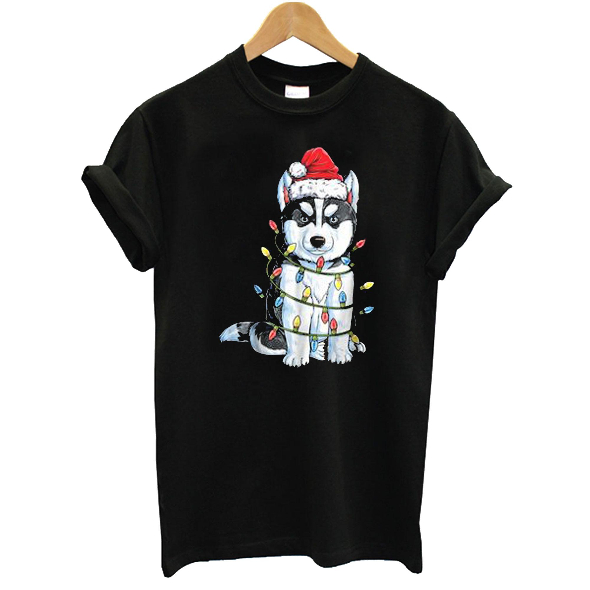 Siberian Husky Christmas T-Shirt