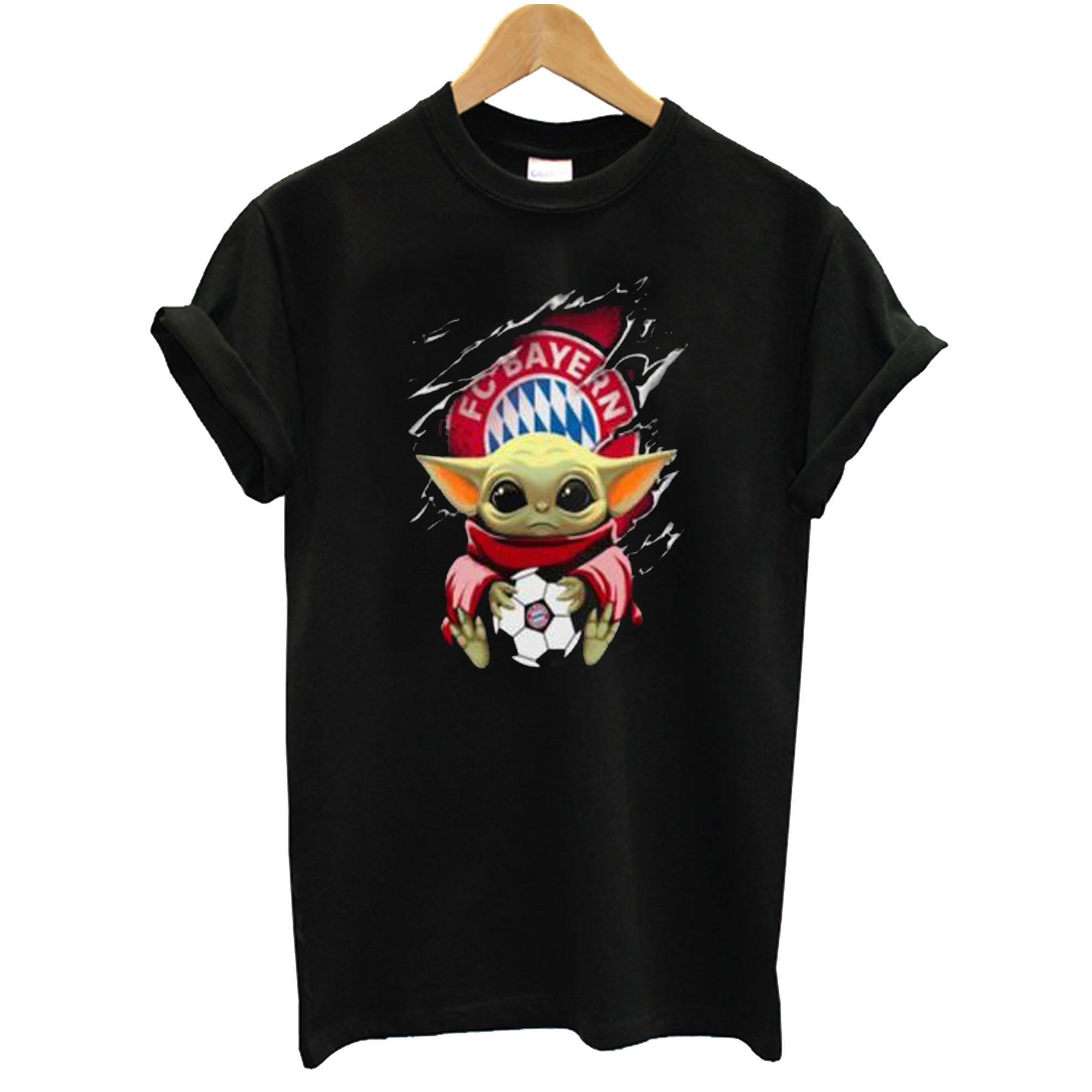 Star Wars Baby Yoda Blood Inside Bayern München T shirt