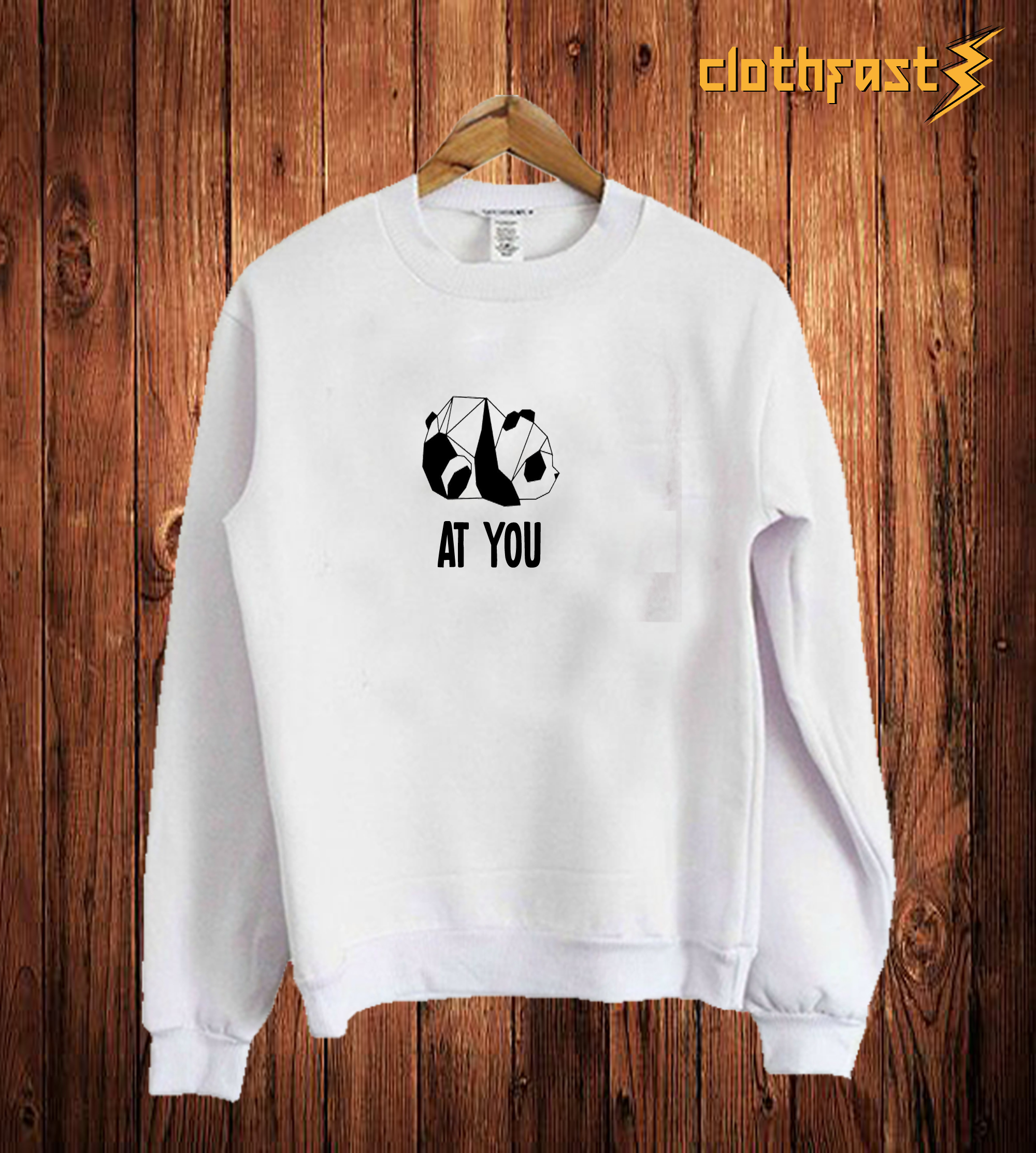 At You White Sweetshirt